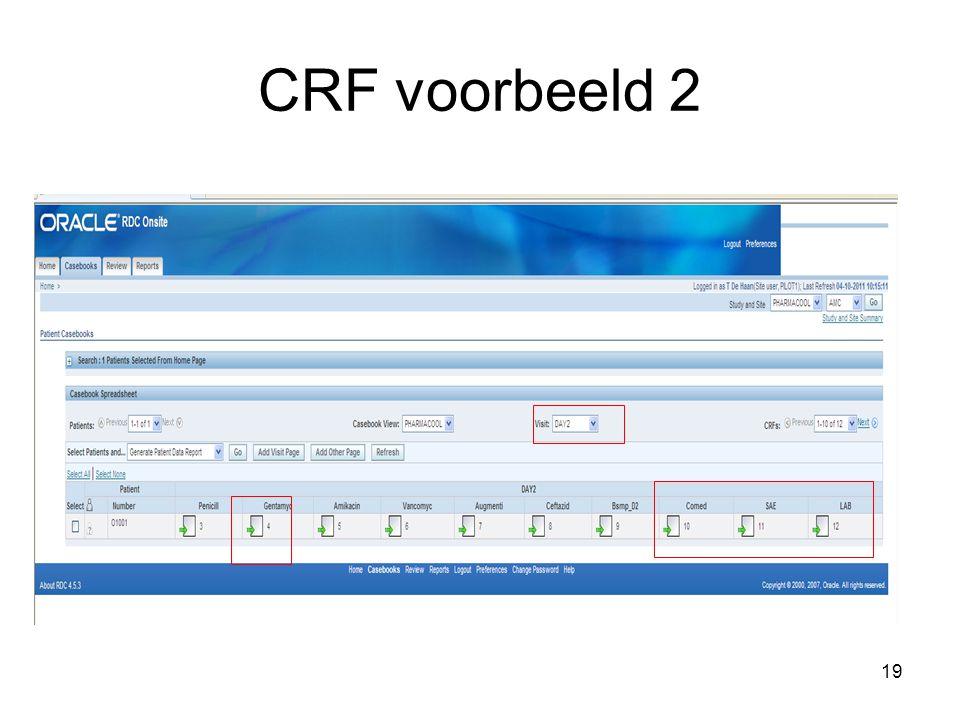 19 CRF voorbeeld 2