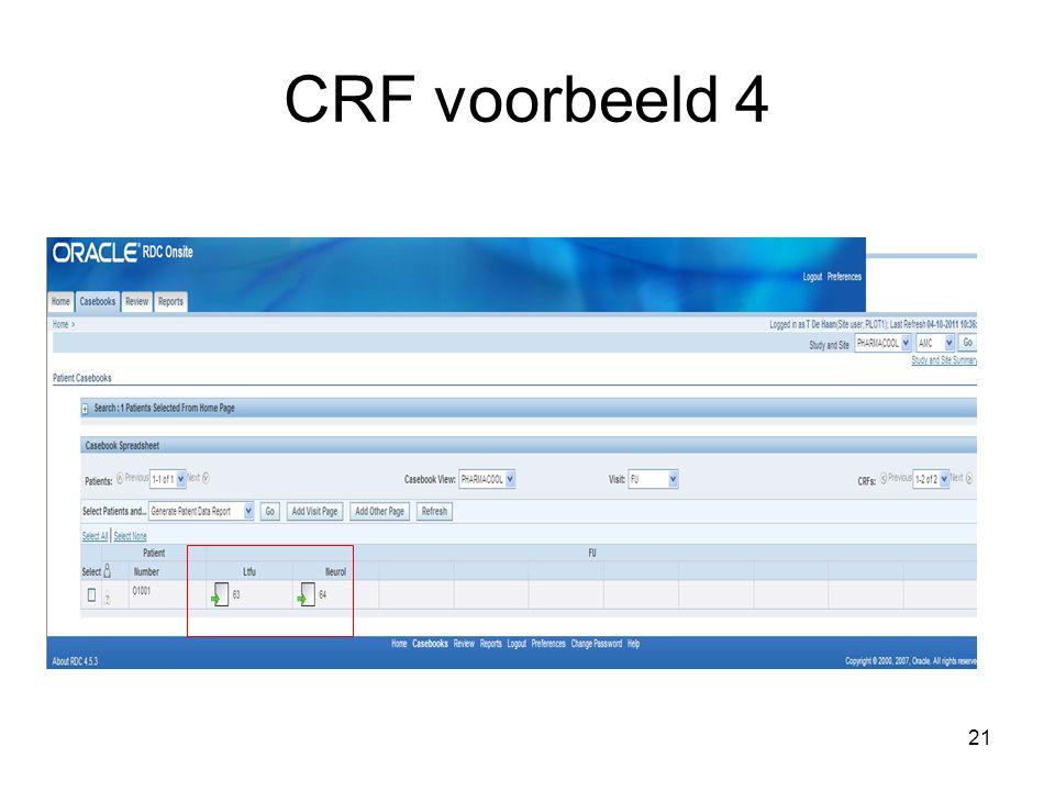 21 CRF voorbeeld 4
