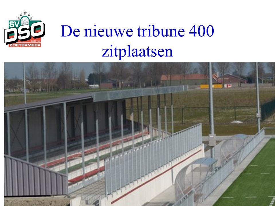 De nieuwe tribune 400 zitplaatsen