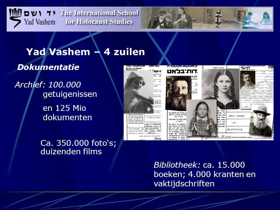 Dokumentatie Ca. 350.000 foto's; duizenden films Bibliotheek: ca.