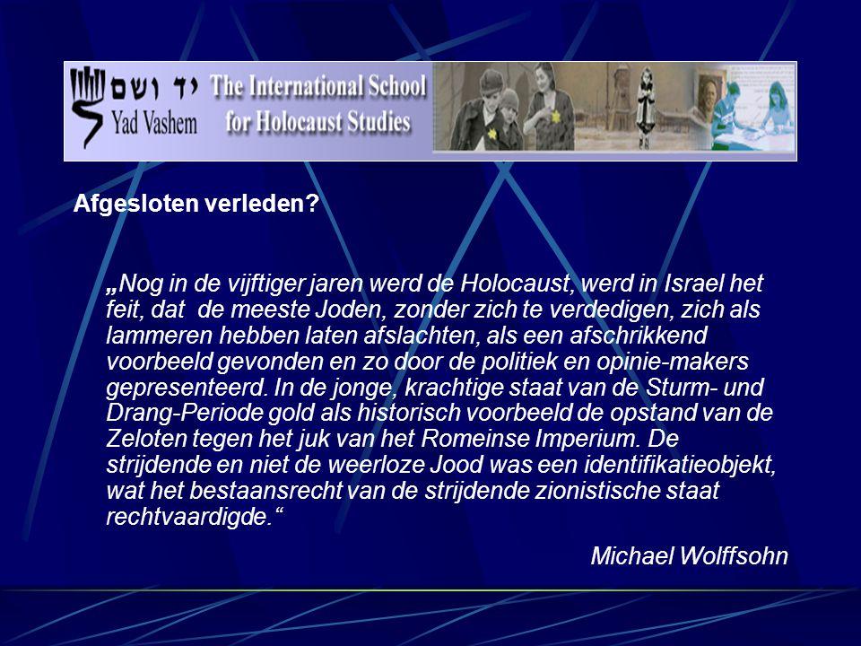 Het pedagogische concept van Yad Vashem Uitgangspunten:  De Holocaust – civilisatiebreuk voor omstanders  De slachtoffers waren mensen, hun moordenaars waren ook mensen