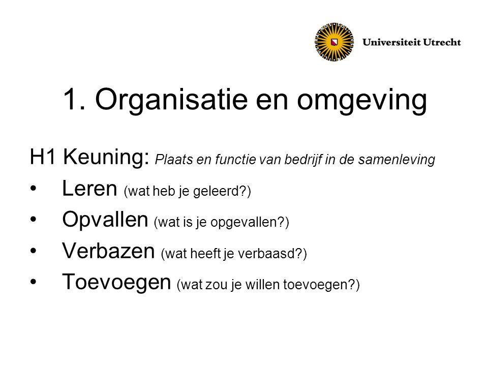 3.Organisatie en processen, vastleggingstechnieken t.b.v.