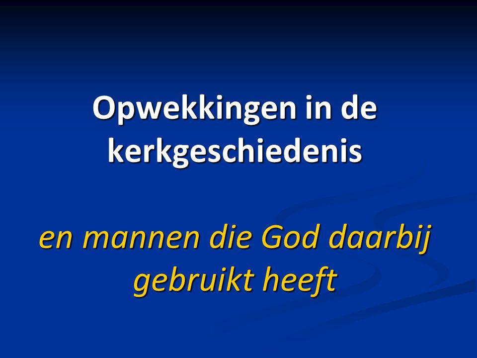1e sessie: Vernieuwingsbewegingen na de Reformatie 2e sessie: De grote opwekking in de jaren van 1740 3e sessie: De opwekking in Herrnhut en Zinzendorf 4e sessie: De heiligingsbeweging en Dr.