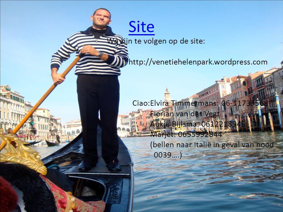 Site We zijn te volgen op de site: http://venetiehelenpark.wordpress.com Ciao:Elvira Timmermans: 06-11733568 Florian van der Vegt Aukje Bijlsma: 06122