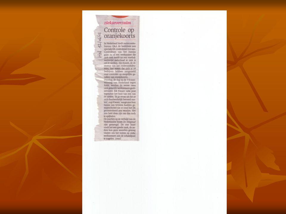 Ziekteverzuim   Macrodiagnosecategorieën van Hogerzeil   Objectieve aandoeningen: 13%   infectieziekten, nieuwvormingen, bloedziekten, aandoeningen van het centraal zenuwstelsel, de zintuigen, het hart- en vaatstelsel en het uro- genitaal stelsel en chronische aandoeningen van de luchtwegen