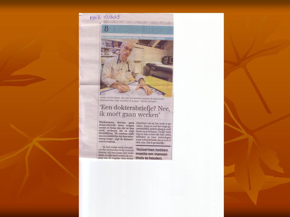Determinanten van verzuim   Veruimbronnen in de wetgeving en de gezondheidszorg:   Geen strenge controle: %+