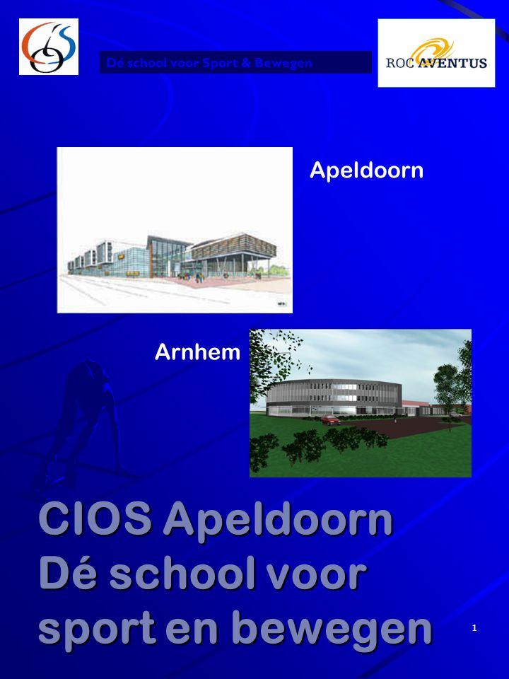 Dé school voor Sport & Bewegen 1 CIOS Apeldoorn Dé school voor sport en bewegen Apeldoorn Arnhem