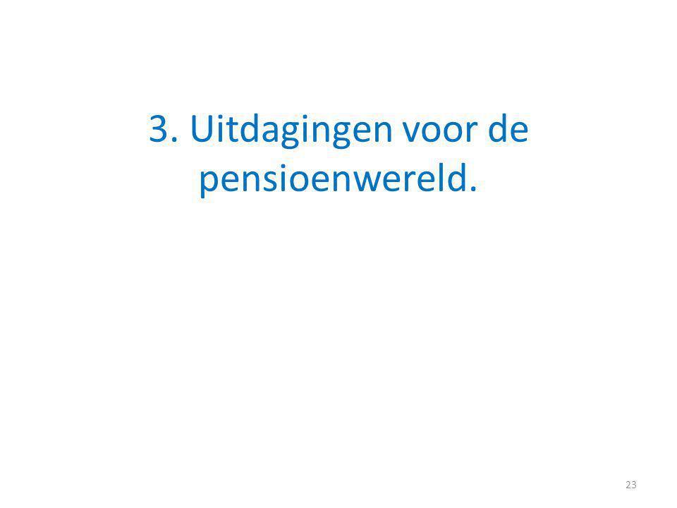 3. Uitdagingen voor de pensioenwereld. 23