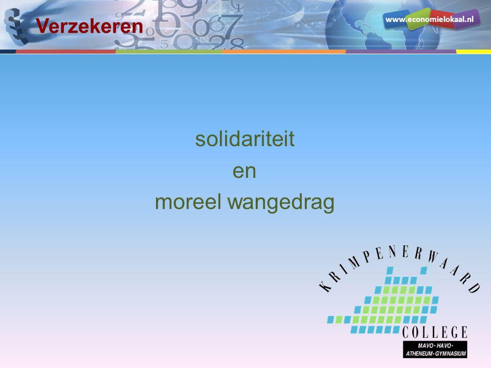 www.economielokaal.nl solidariteit en moreel wangedrag Verzekeren