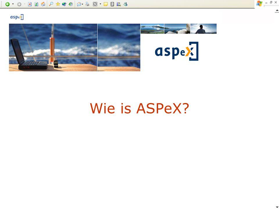 Wie is ASPeX?