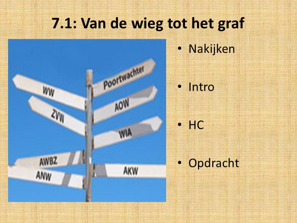 7.1: Van de wieg tot het graf • Nakijken • Intro • HC • Opdracht