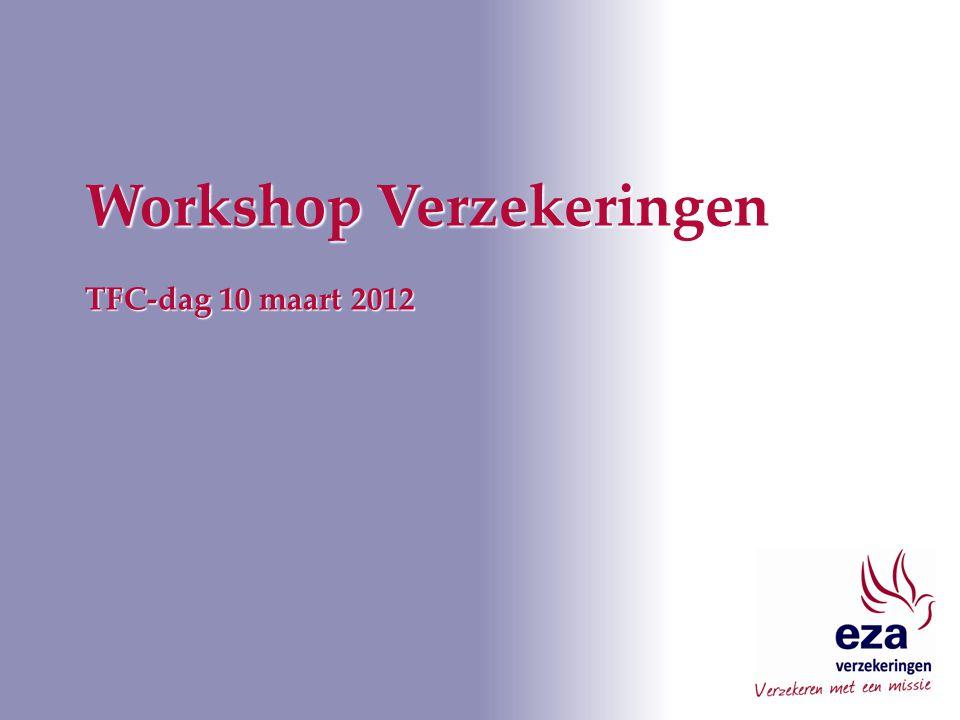 Workshop Verzekeringen TFC-dag 10 maart 2012