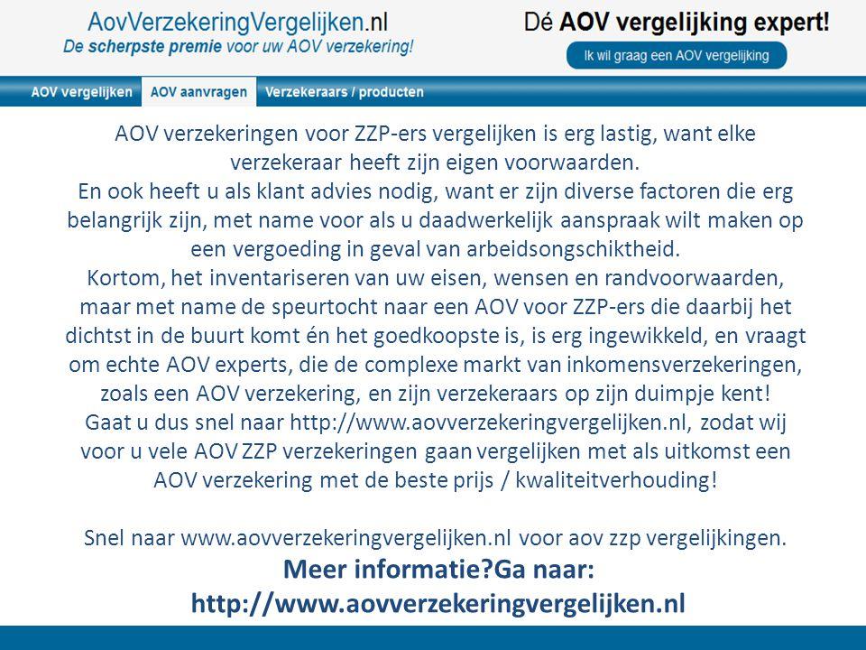 AOV verzekeringen voor ZZP-ers vergelijken is erg lastig, want elke verzekeraar heeft zijn eigen voorwaarden. En ook heeft u als klant advies nodig, w