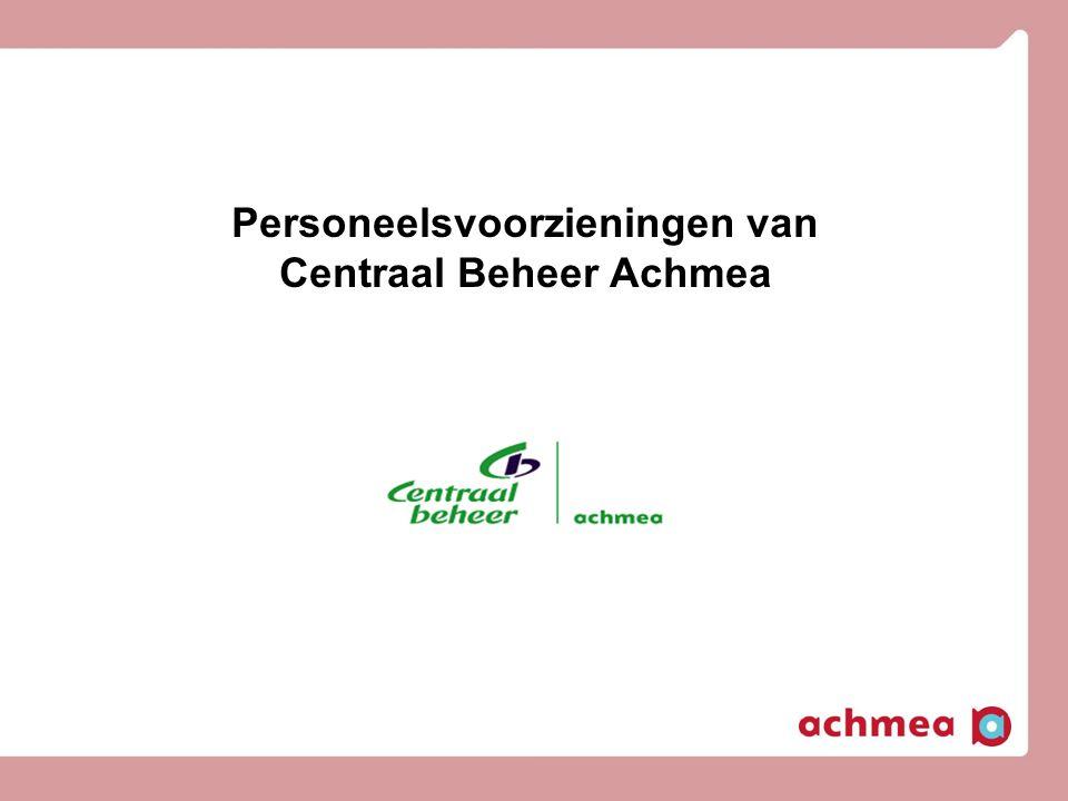 Personeelsvoorzieningen van Centraal Beheer Achmea
