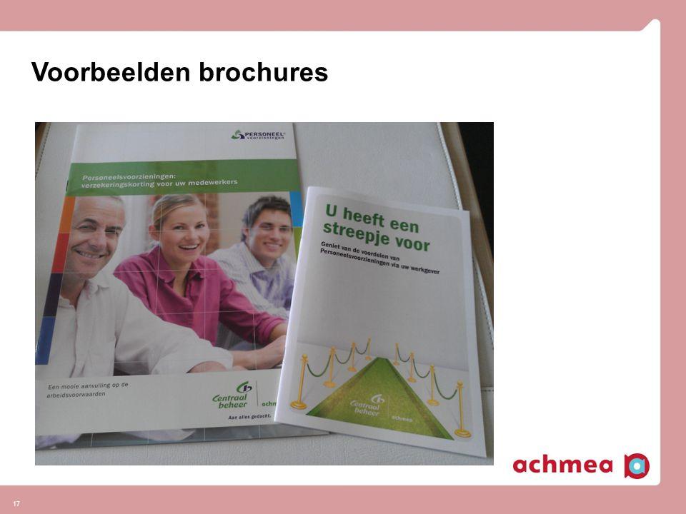 17 Voorbeelden brochures