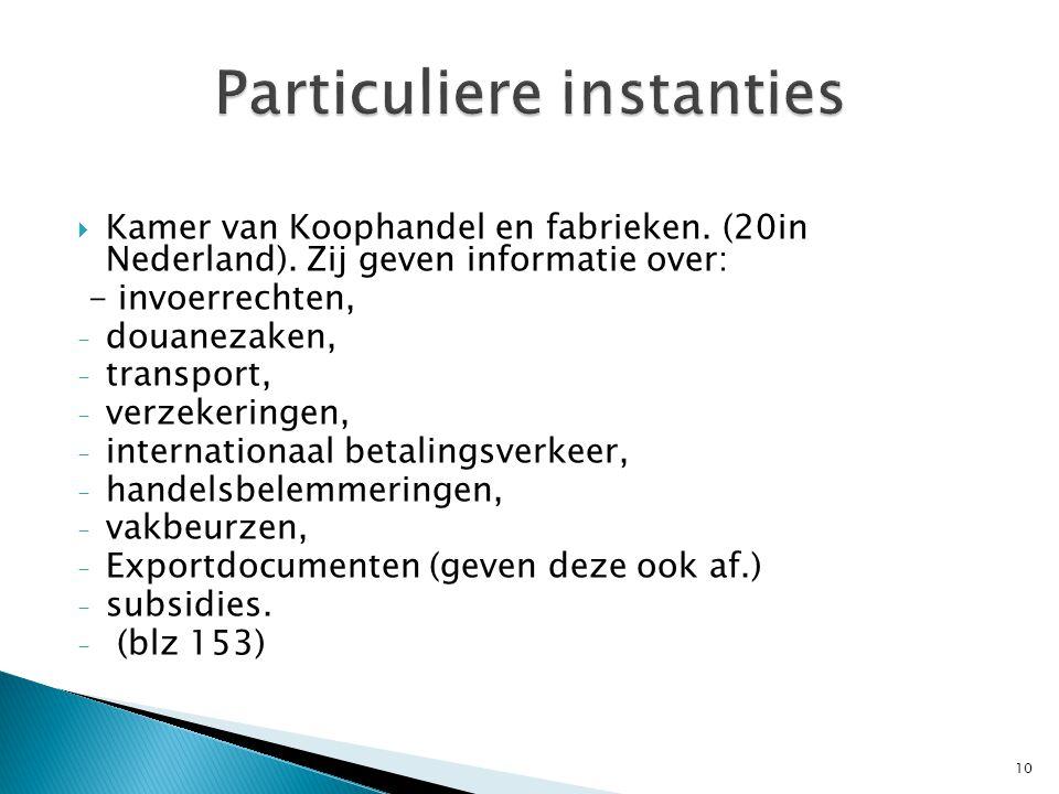  Kamer van Koophandel en fabrieken.(20in Nederland).