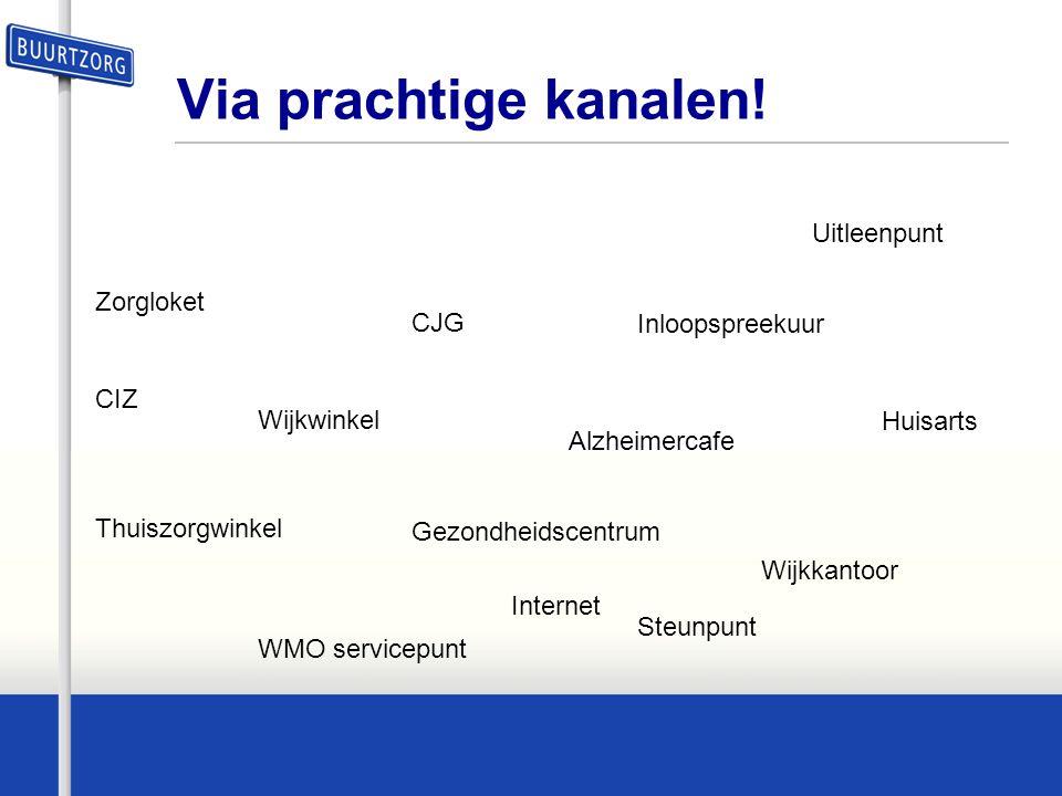 De organisatie van nabijheid •Een web omgeving met centraal cliënt (dossier) •Stelt team samen Buurtzorg breed •Herkenbare oplossingen •Gemeenschappelijke taal&registratie