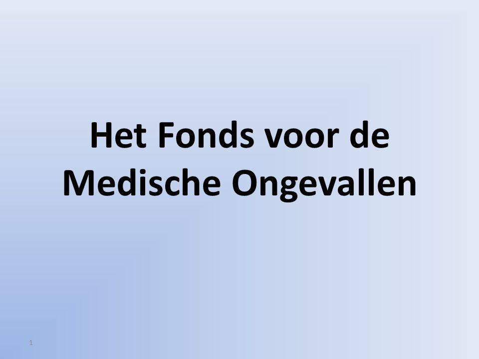 1 Het Fonds voor de Medische Ongevallen