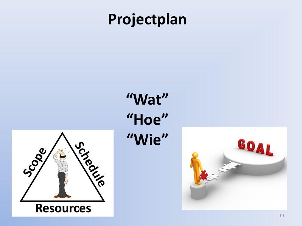 19 Projectplan Wat Hoe Wie