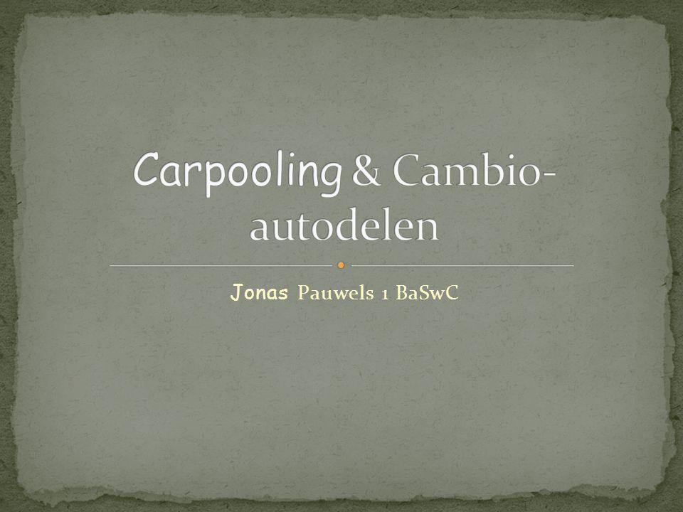  Carpooling  Wat is Carpooling. Hoe werkt het.