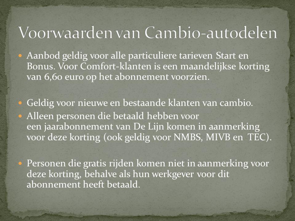  Aanbod geldig voor alle particuliere tarieven Start en Bonus. Voor Comfort-klanten is een maandelijkse korting van 6,60 euro op het abonnement voorz