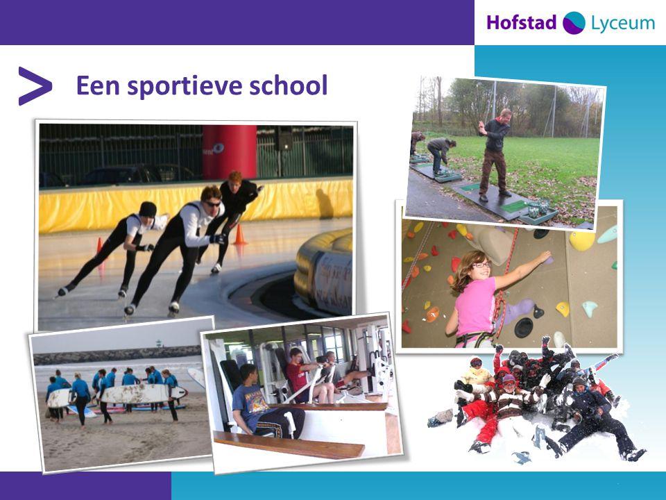 > Een sportieve school
