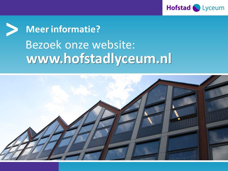 > Hofstad Lyceum is een … > Meer informatie Bezoek onze website: www.hofstadlyceum.nl