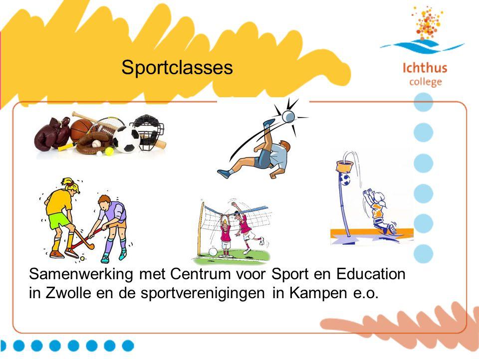 Sportclasses Samenwerking met Centrum voor Sport en Education in Zwolle en de sportverenigingen in Kampen e.o.