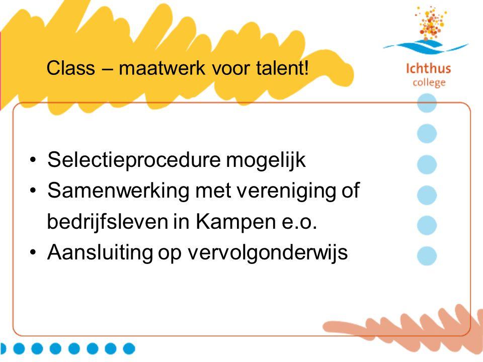 Class – maatwerk voor talent.