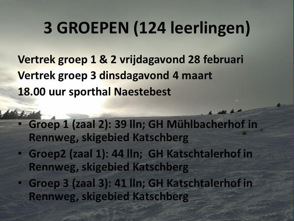 Programma Busreis en dag 1: • Vertrek • Aankomst Oostenrijk • Ski/snowboardles • Gevorderden • Slaapkamers