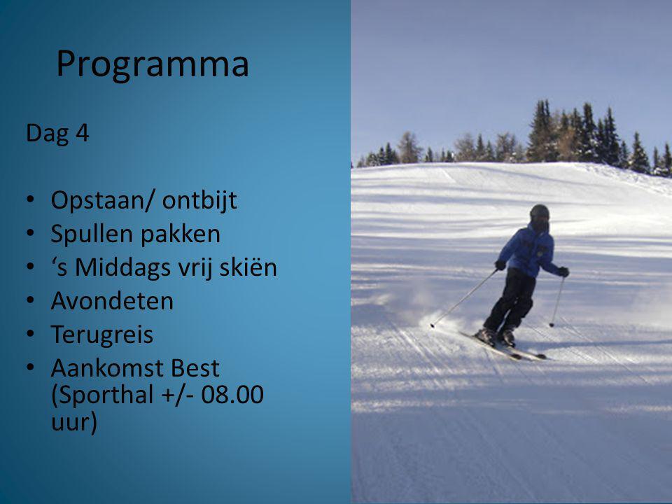 Bagage & materiaal • Handbagage • Grote bagage • Ski's, snowboard • Schoenen, helmen passen vrijdag 10 januari 15.15 uur aula!!