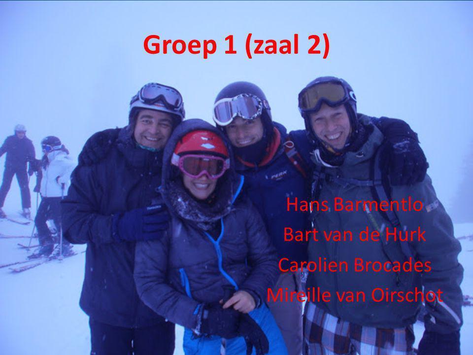 Groep 2 (zaal 1) Frank de Rooij Marnix Polder Bart Habraken Jonneke Reeser