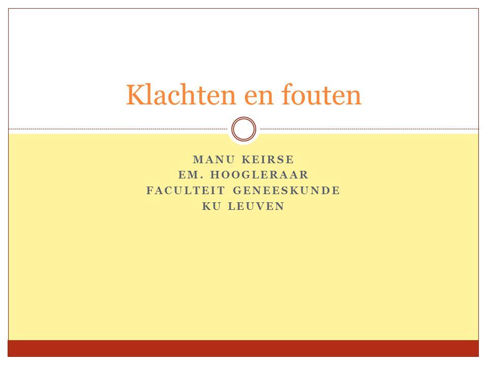 Types van fouten  Oordeelsfouten  Technische fouten  Fouten in prognose  Systeemfouten  Mechanische fouten i.v.m.