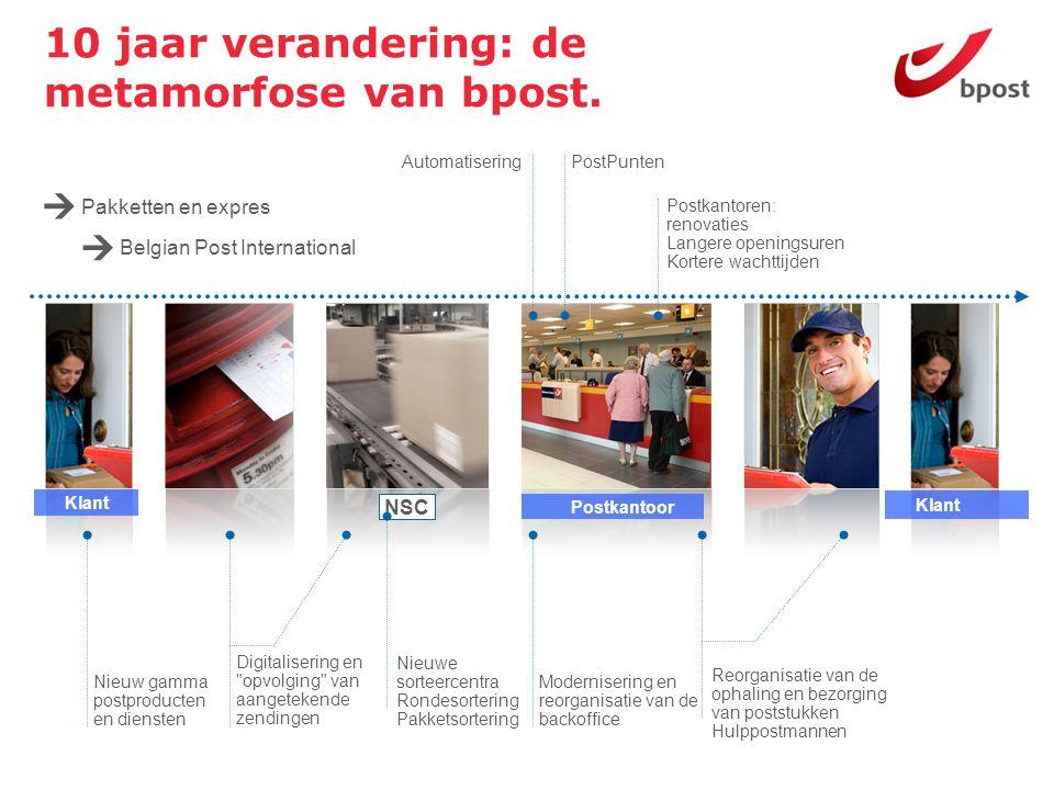 10 jaar verandering: de metamorfose van bpost. NSC Postkantoor Klant Digitalisering en