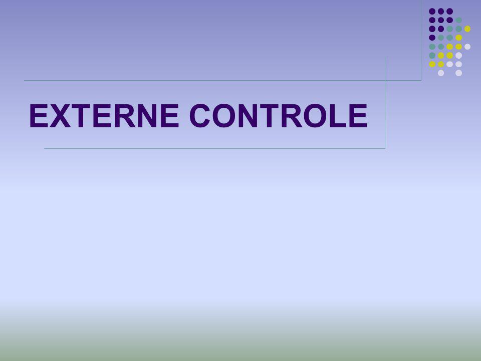 EXTERNE CONTROLE
