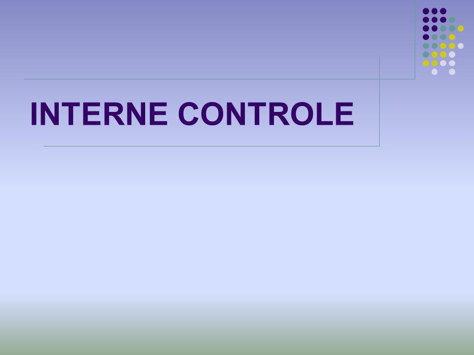 INTERNE CONTROLE