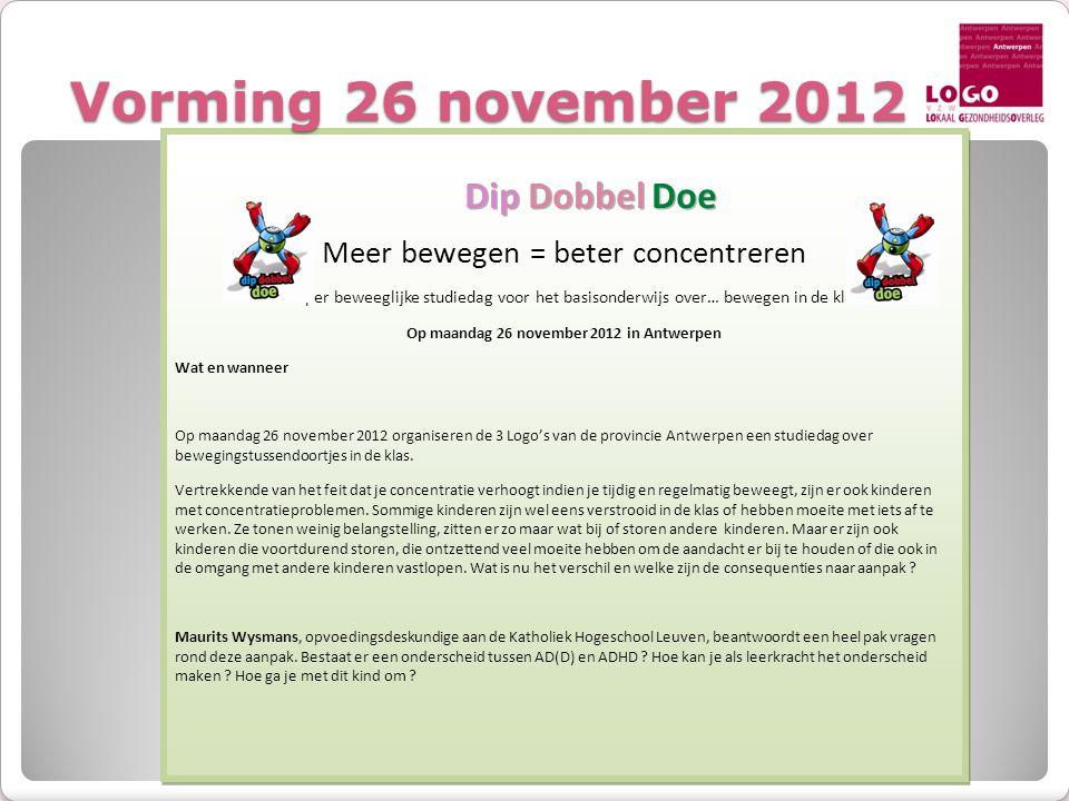 Vorming 26 november 2012