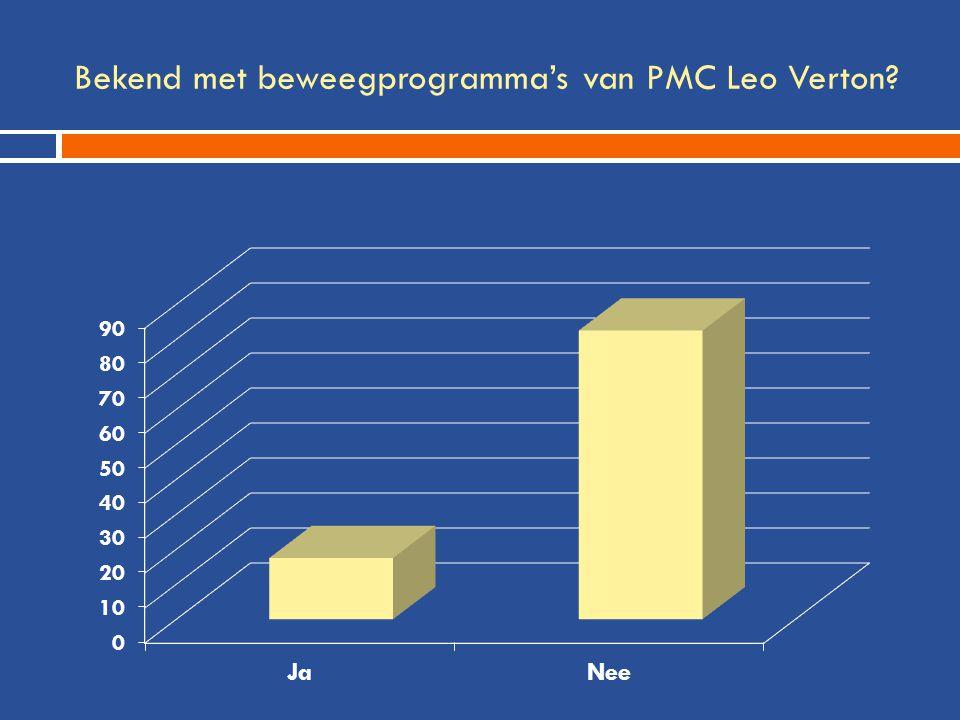 Bekend met beweegprogramma's van PMC Leo Verton