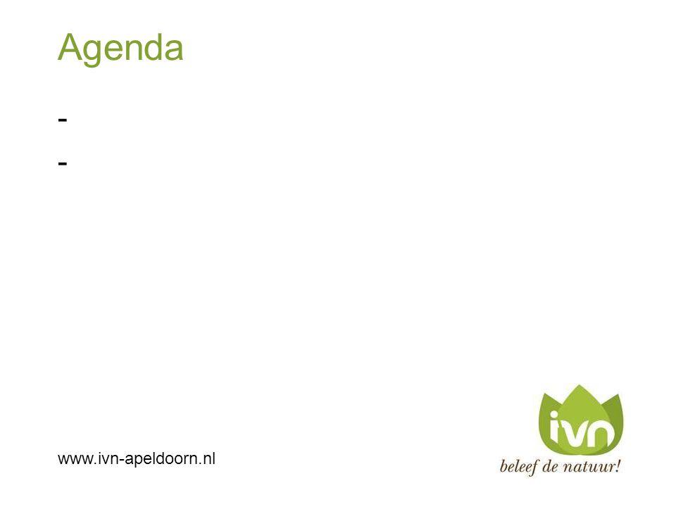 Agenda ---- www.ivn-apeldoorn.nl