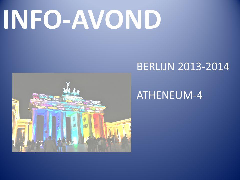BERLIJN 2013-2014 ATHENEUM-4 INFO-AVOND