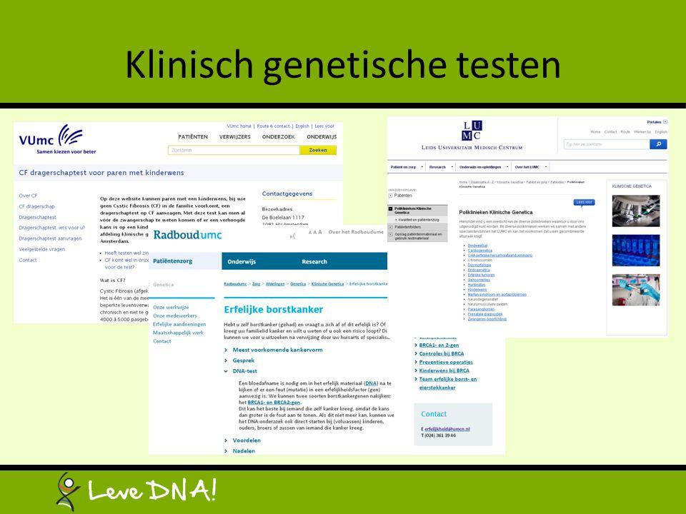 Klinisch genetische testen