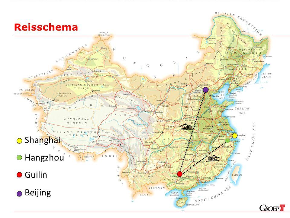Reisschema Shanghai Hangzhou Guilin Beijing