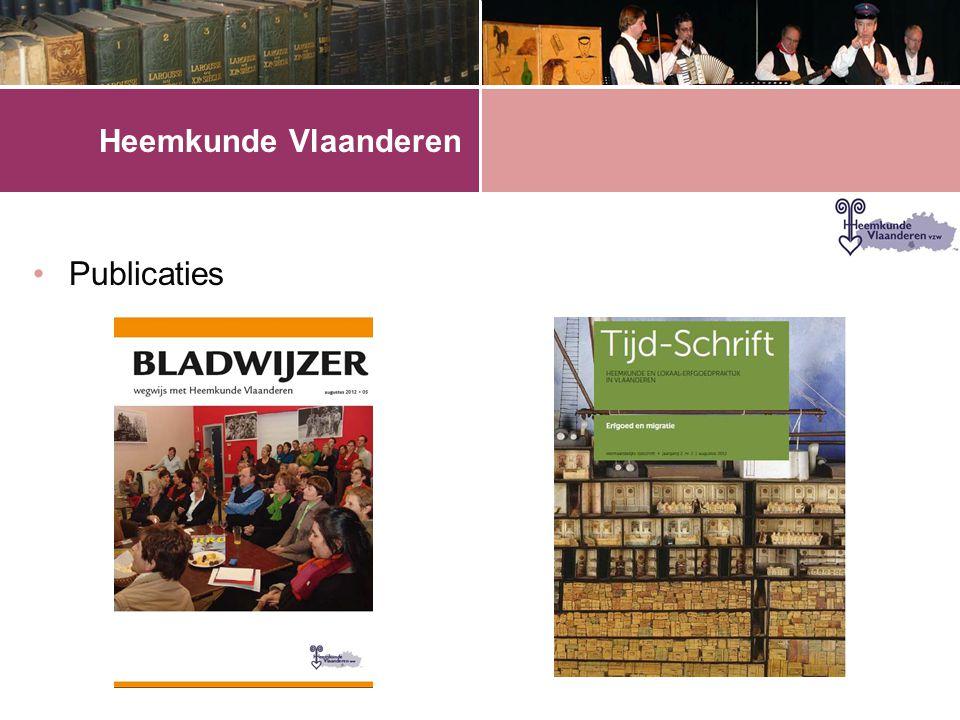 Heemkunde Vlaanderen •Publicaties