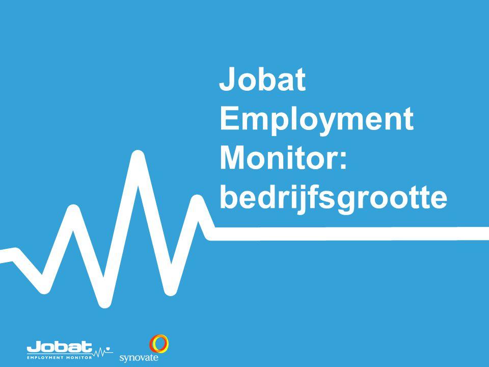 Jobat Employment Monitor: bedrijfsgrootte