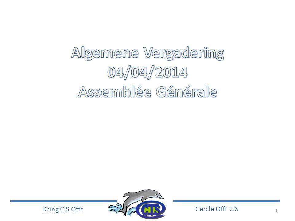 2 Kring CIS Offr Cercle Offr CIS Vincent Sassel Col BEM – Kol SBH Président Cercle Offr CIS Voorzitter Kring CIS Offr