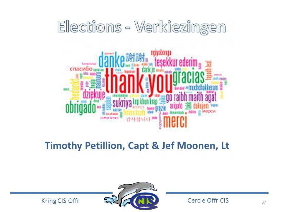 37 Kring CIS Offr Cercle Offr CIS Timothy Petillion, Capt & Jef Moonen, Lt