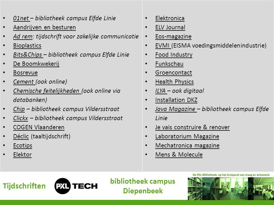 • 01net – bibliotheek campus Elfde Linie 01net • Aandrijven en besturen Aandrijven en besturen • Ad rem: tijdschrift voor zakelijke communicatie Ad re
