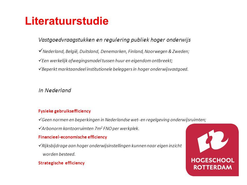 Literatuurstudie Vastgoedvraagstukken en regulering publiek hoger onderwijs  Nederland, België, Duitsland, Denemarken, Finland, Noorwegen & Zweden; 