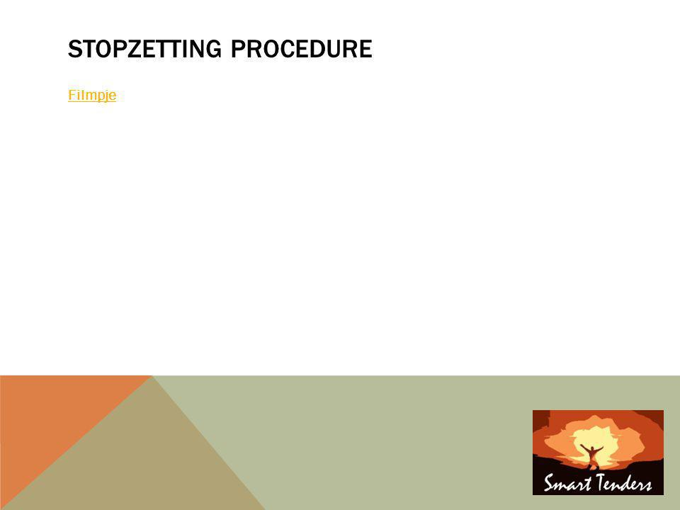 STOPZETTING PROCEDURE Filmpje