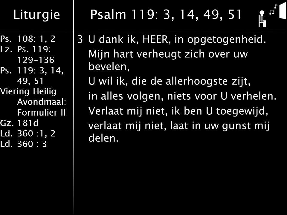 Liturgie Ps.108: 1, 2 Lz.Ps.
